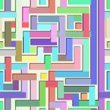 Teste padrão sem emenda colorido abstrato que assemelha-se a um labirinto Fotos de Stock Royalty Free