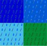 Teste padrão sem emenda colorido com elementos e esboço do comprimido Ilustração do vetor ilustração stock