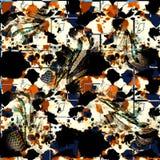 Teste padrão sem emenda colorido com leopardos selvagens Foto de Stock Royalty Free
