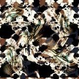 Teste padrão sem emenda colorido com leopardos selvagens Imagem de Stock