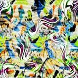 Teste padrão sem emenda colorido com leopardos selvagens Imagens de Stock