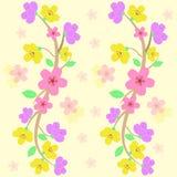 Vetor sem emenda colorido do teste padrão de sakura Fotografia de Stock Royalty Free