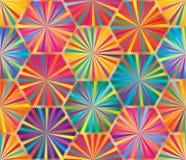 Teste padrão sem emenda colorido do raio grande do hexágono ilustração do vetor