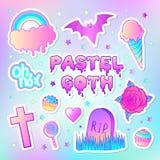 Teste padrão sem emenda colorido: doces, doces, arco-íris, gelado, Fotografia de Stock Royalty Free