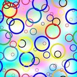 Teste padrão sem emenda colorido dos grupos no backgrou da cor Fotografia de Stock