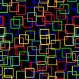 Teste padrão sem emenda colorido dos grupos no backgrou preto Foto de Stock Royalty Free