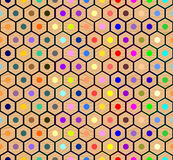 Teste padrão sem emenda colorido dos lápis ilustração stock