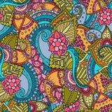 Teste padrão sem emenda colorido floral étnico decorativo do vetor abstrato Imagem de Stock