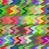 Teste padrão sem emenda colorido ondulado abstrato Fotos de Stock