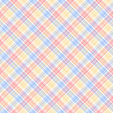 Teste padrão sem emenda colorido quadriculado azul e amarelo vermelho, vetor ilustração do vetor