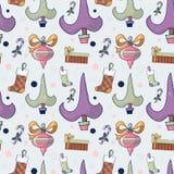 Teste padrão sem emenda com árvore de Natal, Natal b dos desenhos animados bonitos Foto de Stock Royalty Free