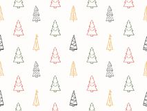 Teste padrão sem emenda com árvores de Natal ilustração do vetor