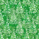 Teste padrão sem emenda com árvores de Natal Fotos de Stock