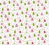 Teste padrão sem emenda com árvores de Natal Vetor Fotografia de Stock Royalty Free