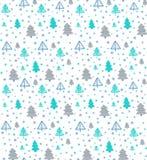 Teste padrão sem emenda com árvores de Natal Vetor Foto de Stock
