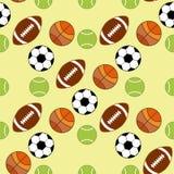 Teste padrão sem emenda com ícones do esporte Imagens de Stock