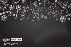 Teste padrão sem emenda com ícones do xmas Fundo do Feliz Natal Ilustração do vetor ilustração do vetor