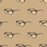 Teste padrão sem emenda com óculos de sol retros vintage Fotos de Stock Royalty Free
