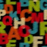 Teste padrão sem emenda com alfabeto. Foto de Stock Royalty Free