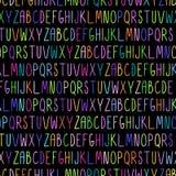 Teste padrão sem emenda com alfabeto Fotos de Stock Royalty Free