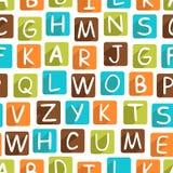 Teste padrão sem emenda com alfabeto engraçado Fotografia de Stock Royalty Free