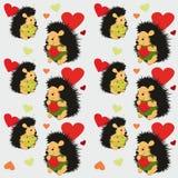 Teste padrão sem emenda com amantes dos ouriços - vetor do Valentim Ilustração do Vetor