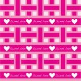 Teste padrão sem emenda com amor doce Foto de Stock Royalty Free
