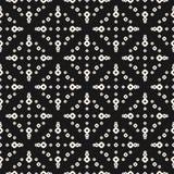 Teste padrão sem emenda com anéis pequenos, pontos, círculos perfurados ilustração stock