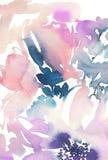 Teste padrão sem emenda com aquarela das flores ilustração do vetor