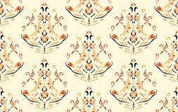 Teste padrão sem emenda com arabesques no estilo retro Foto de Stock Royalty Free