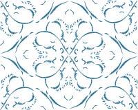 Teste padrão sem emenda com arabesques no estilo retro Fotografia de Stock