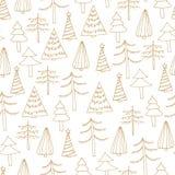 Teste padrão sem emenda com as árvores de Natal abstratas foto de stock