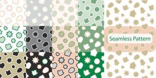 Teste padrão sem emenda com as cookies do pão-de-espécie do Natal - doces do xmas, sino, anjo, estrela, casa, coração ilustração stock