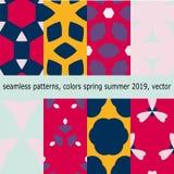 Teste padrão sem emenda com as cores do verão 2019 da mola, no vetor Fotos de Stock Royalty Free