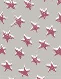 Teste padrão sem emenda com as estrelas tiradas mão Envoltório festivo, fundo Ilustração do vetor Imagens de Stock