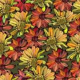 Teste padrão sem emenda com as flores coloridas diferentes Foto de Stock