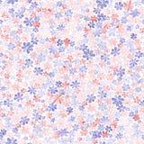 Teste padrão sem emenda com as flores coloridas pequenas Paintin da aquarela Fotos de Stock Royalty Free