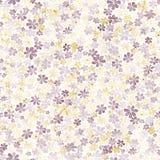 Teste padrão sem emenda com as flores marrons e amarelas pequenas watercolor Fotografia de Stock