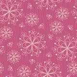 Teste padrão sem emenda com as flores no fundo cor-de-rosa Fotografia de Stock Royalty Free