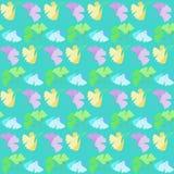 Teste padrão sem emenda com as flores no verde Foto de Stock Royalty Free