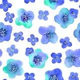 Teste padrão sem emenda com as flores no vetor Imagens de Stock Royalty Free