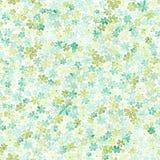Teste padrão sem emenda com as flores verdes e amarelas pequenas watercolor Imagens de Stock