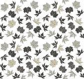 Teste padrão sem emenda com as folhas de outono à moda Imagens de Stock