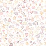 Teste padrão sem emenda com as folhas de outono coloridas Imagem de Stock Royalty Free