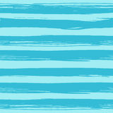 Teste padrão sem emenda com as listras azuis tiradas mão Fotografia de Stock Royalty Free