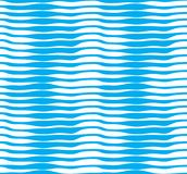 Teste padrão sem emenda com as ondas azuis estilizados, curva l do vetor marinho ilustração royalty free