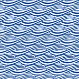 Teste padrão sem emenda com as ondas tiradas mão Imagens de Stock