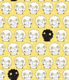 Teste padrão sem emenda com as ovelhas negras entre os carneiros brancos Imagens de Stock Royalty Free