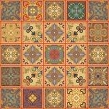 Teste padrão sem emenda com as telhas portuguesas no estilo de talavera Azulejo, marroquino, ornamento mexicanos Imagem de Stock Royalty Free