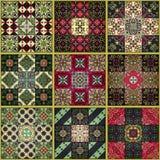 Teste padrão sem emenda com as telhas portuguesas no estilo de talavera Azulejo, marroquino, ornamento mexicanos Foto de Stock Royalty Free